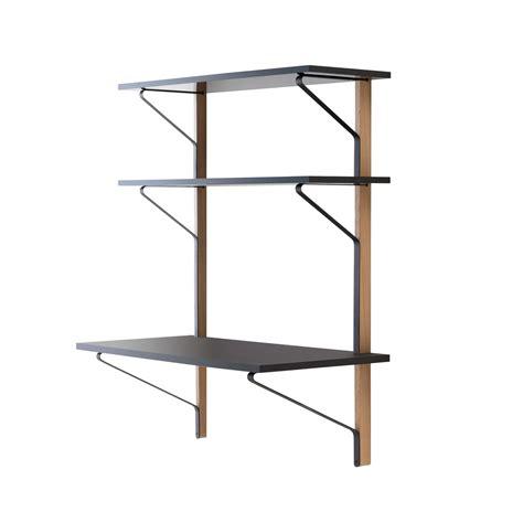 etagere 100 cm kaari wall shelf with desk by artek