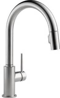 kitchen faucet plumbing delta 9159 ar dst pull out spray kitchen faucets modern