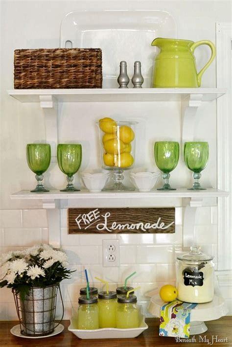 Lemon Shelf by Summer Open Shelves In Kitchen Shelf Ideas Lemonade
