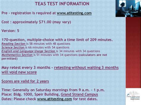 teas test sections associate degree nursing steps session
