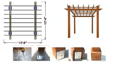 draw construction plans pergoladiy draw your own pergola plans