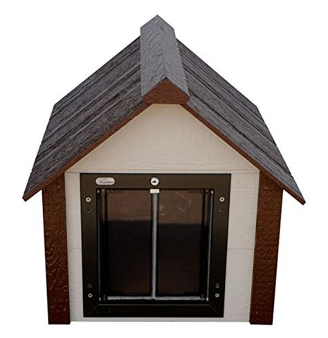 dog house doors for winter climate master plus insulated dog house dog kennel w door medium ebay