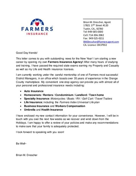 Business Insurance Marketing Letters Farmers Letter 2