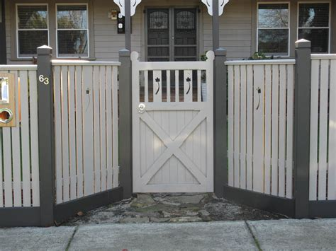 picket fence design capped pickets with feature panels gate fence and door ideas