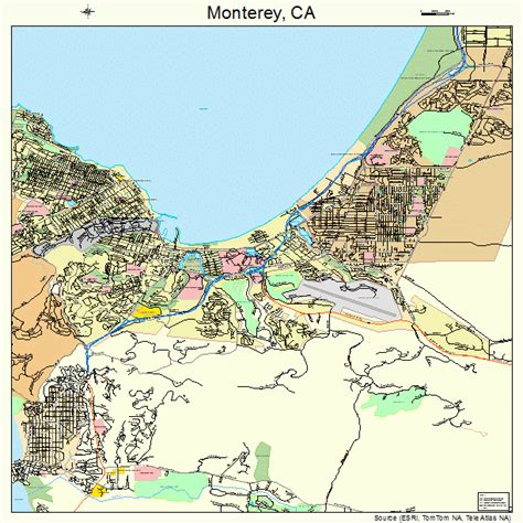 california map monterey monterey california map 0648872