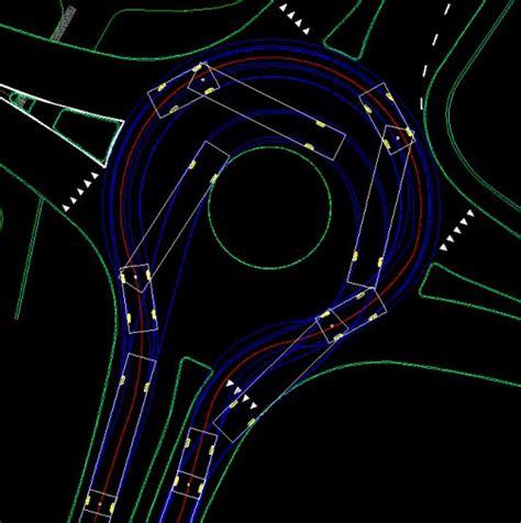 Vehicle Turning Simulations Swept Path Analysis Zwcad Autocad Roundabout Templates