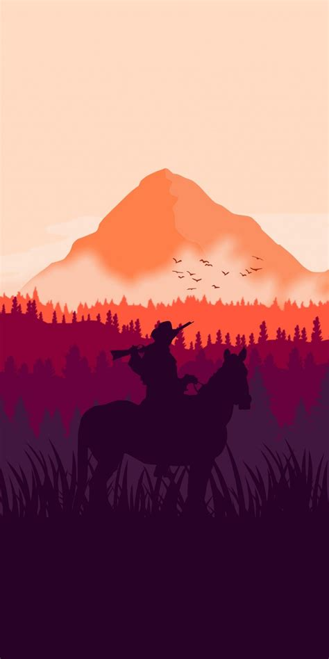red dead redemption  horse ride silhouette art