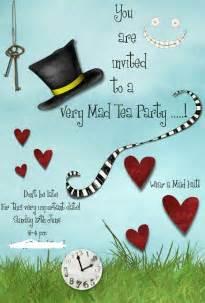 mad hatters tea invitation template free tea mad hatter tea search