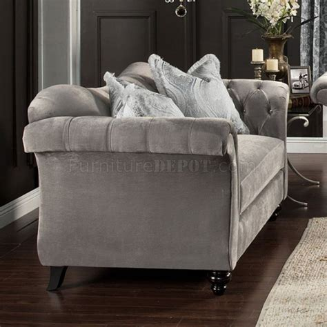 antoinette sofa antoinette ii sm2225 sofa in dolphin gray fabric w options