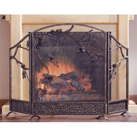 brushed nickel fireplace screen regarding encourage