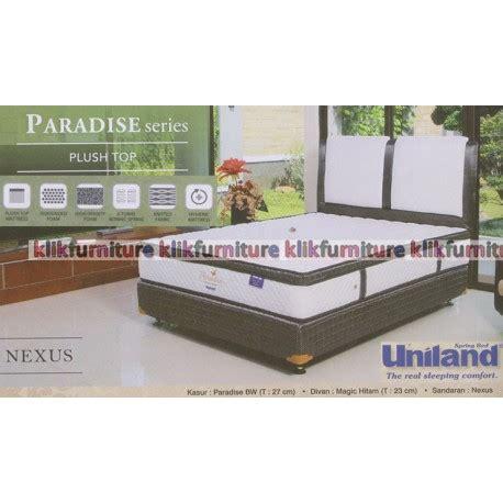 Harga Merk Kasur Uniland paradise plushtop nexus uniland springbed diskon promosi