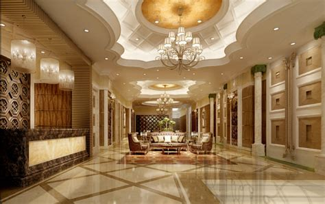 Majestic Homes Floor Plans Luxury Hotel Hall Lobby 3d Model Max Cgtrader Com