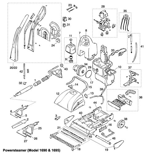 bissell proheat 2x parts diagram bissell proheat 2x parts manual wiring diagrams wiring