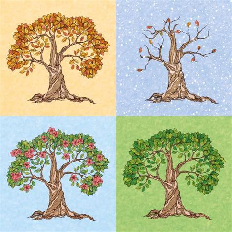 imagenes arboles invierno cuatro estaciones de verano oto 241 o invierno primavera 225 rbol