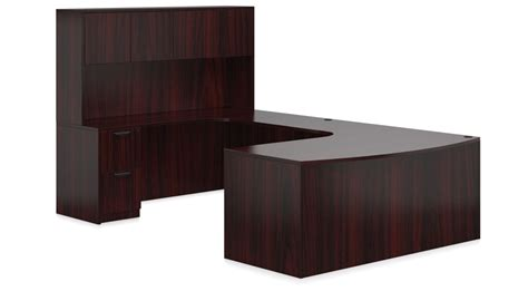 Otg 71 Quot Bow Front Quot U Quot Desk W Corner Extension And Hutch Corner Desk With Extension