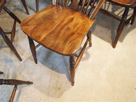 Cloverleaf Home Interiors chairs windsor ash and elm set of six kitchen antiques atlas