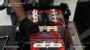 how to replace club car precedent batteries electric