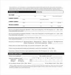 Free Application Form Template by 15 Application Form Templates Free Sle Exle