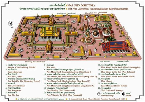 temple grand map day 1 in bangkok wat pho temple of the reclining buddha