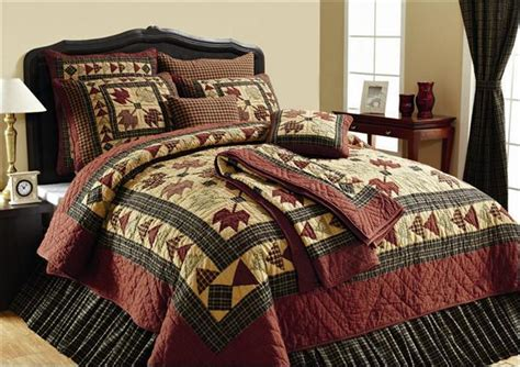 primitive bedding sets rustic fall leaves primitive 4pc king quilt bedding set ebay