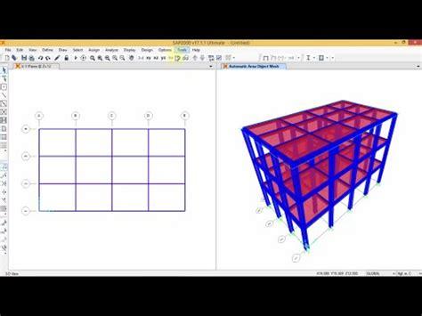 perencanaan gedung 10 lantai sap2000 v14 part 1 youtube 1 7 tutorial etabs for beginner indonesia lihat l