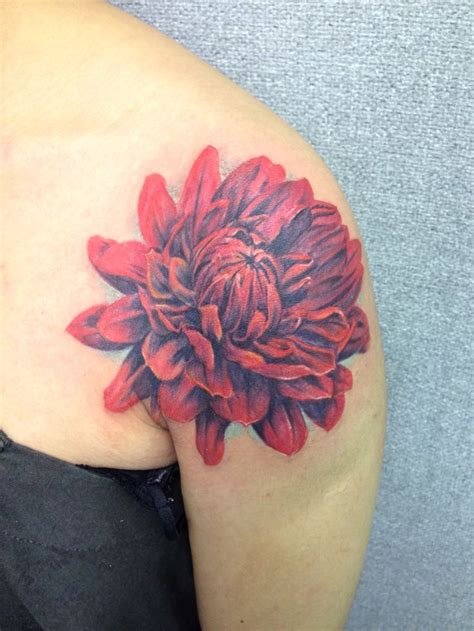 new tattoo very red red flower tattoo new tattoo by lucy pinterest