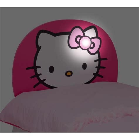 hello kitty full size headboard hello kitty light up bed headboard new free p p ebay