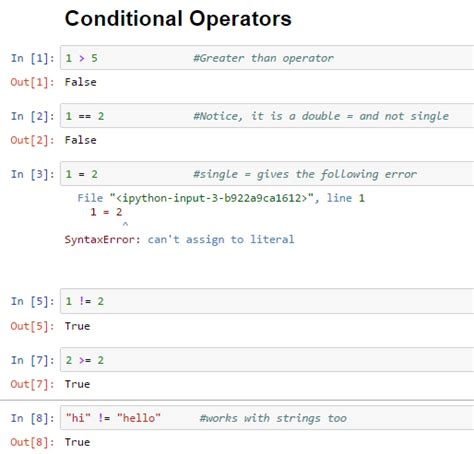 python tutorial conditional statements data science machine learning 2 3 python basics with
