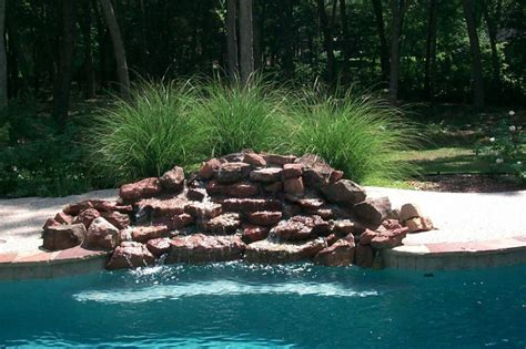 diy pool waterfall rock waterfalls for pool bullyfreeworld com