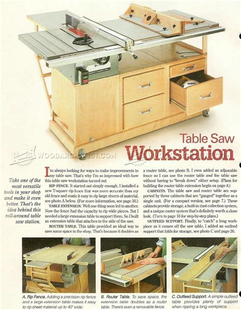 table  workstation plans router table