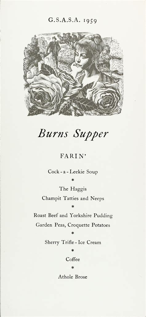 burns menu template glasgow school o happy burns gsa archives