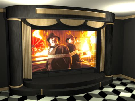 Home Decor Material Proscenium Home Theater Stage