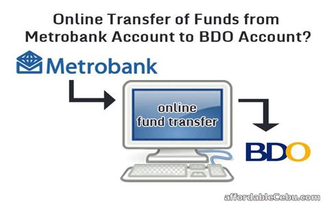 can i transfer money from bank to bank transfer money from metrobank to bdo thru banking