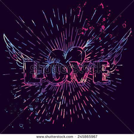 love fashion design print girl love vector watercolor fashion design print stock vector