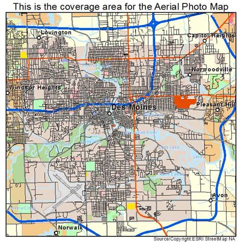 map of des moines iowa aerial photography map of des moines ia iowa