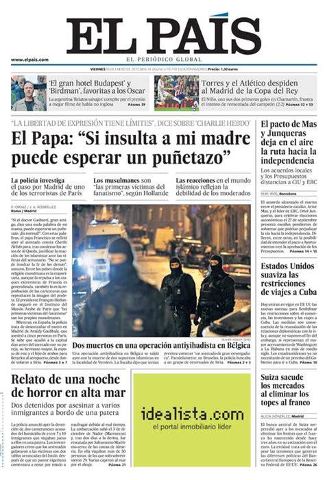 hemeroteca buscar noticias los tiempos portada de el pa 205 s del 16 01 2015