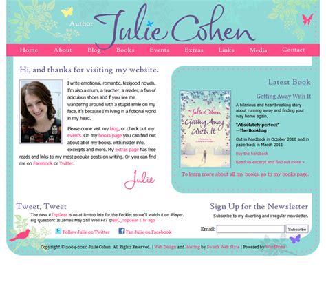 website design  author julie cohen swank web design