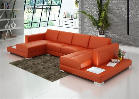 Tables For Sectional Sofas by Chaise Sectional Sofa With Built In End Tables Made