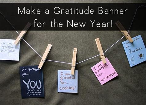 new year banner craft new year s craft make a gratitude banner
