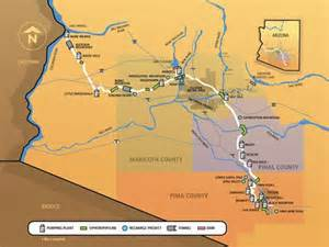 central arizona project map central arizona project system map