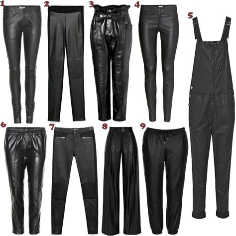 pantalones cuero pantalones de cuero 15 estilos 15 looks