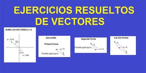 imagenes de vectores unitarios ejercicios resueltos de vectores ejemplos explicados