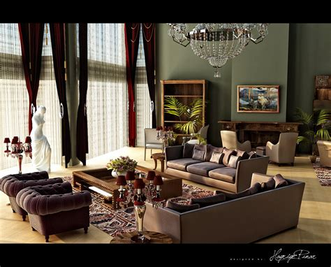 classic living room classic design plum green scheme by hayriyepinar