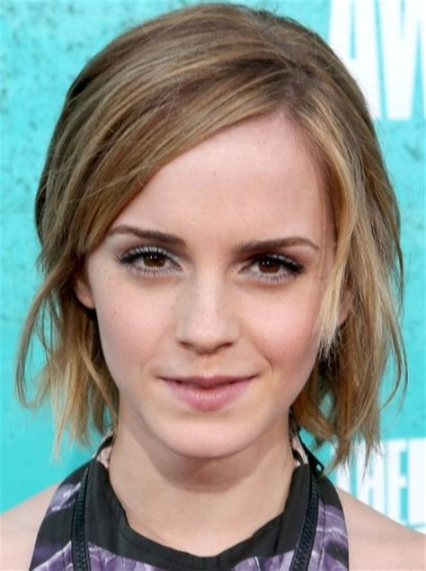 straight short hairstyles emma watson bob haircut