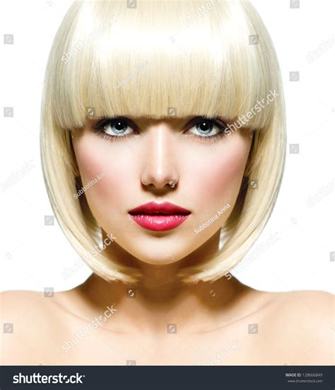 haircuts buxton me fashion stylish beauty portrait white short stock photo