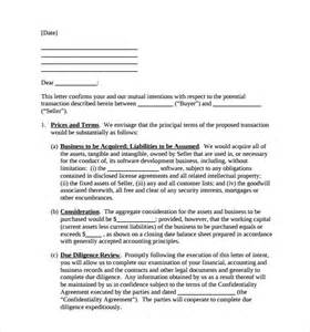 letter of intent to purchase template sle letter of intent to purchase business 8