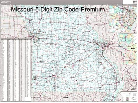 zip code map missouri missouri zip code map from onlyglobes com