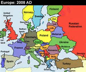 Modern Map Of Europe by Recent History In Europe 1989 2008