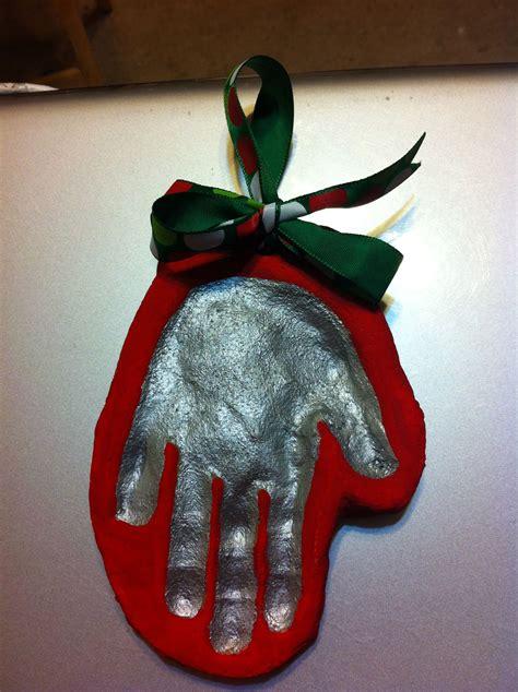 salt dough ornaments handprint mittens  classroom