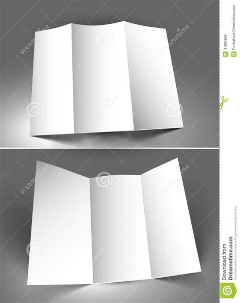 Couture Trifold Travel In Mock by Tri Fold Mock Up Stock Vector Image 41886869